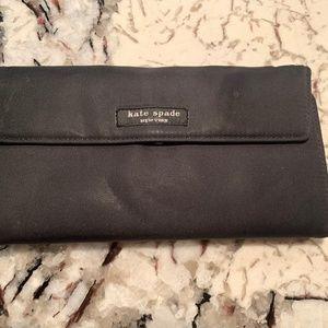 Kate Spade black microfiber wallet